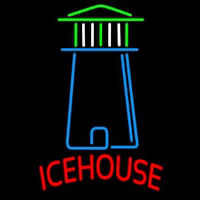 Ice House Light House Art Beer Sign Neontábla