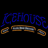 Icehouse Plank Road Brewery Blue Beer Sign Neontábla