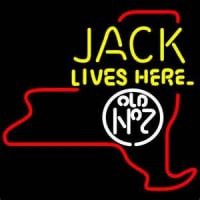 Jack Daniels Jack Lives Here New York Whiskey Neontábla