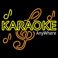 Karaoke Anywhere Neontábla