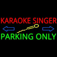 Karaoke Singer Parking Only 2 Neontábla