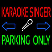 Karaoke Singer Parking Only Neontábla