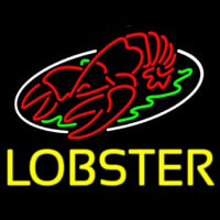Lobster Block With Logo Neontábla