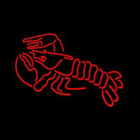 Lobster Logo Red Neontábla