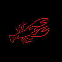 Lobster Red Logo Neontábla