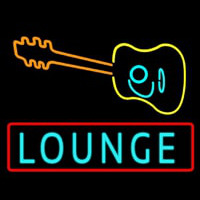 Lounge With Guitar Neontábla