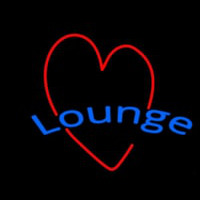Lounge With Heart Neontábla