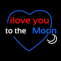 Love You To The Moon Neontábla