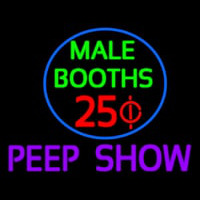 Male Booths Peep Show Neontábla