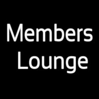 Members Lounge Neontábla