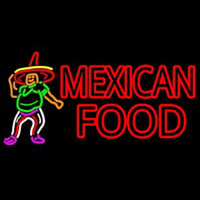 Mexican Food Man Logo Neontábla