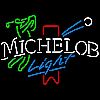 Michelob Light Red Ribbon Golfer Neontábla