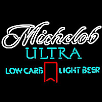 Michelob Ultra Light Low Carb Red Ribbon Neontábla