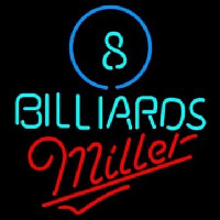 Miller Ball Billiards Pool Beer Neontábla