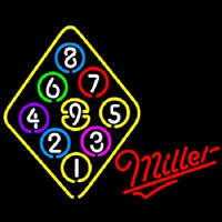 Miller Ball Billiards Rack Pool Neontábla