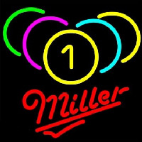 Miller Billiards Rack Pool Neontábla