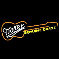 Miller Country Guitar Beer Sign Neontábla