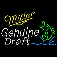 Miller Genuine Draft Blinking Fish Beer Sign Neontábla
