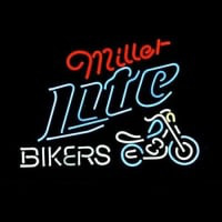 Miller Lite Bike Bikers Bicycle Logó Neontábla