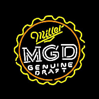 Miller MGD Bottle Cap Beer Sign Neontábla