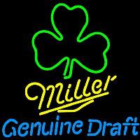 Miller Mgd Green Clover Beer Sign Neontábla