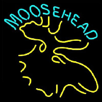 Moose Head Logo Neontábla