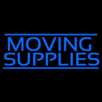 Moving Supplies Blue Double Lines Neontábla