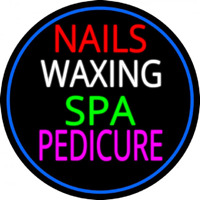 Nails Wa ing Spa Pedicure Neontábla