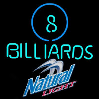 Natural Light Ball Billiards Pool Beer Sign Neontábla