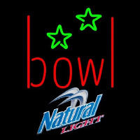 Natural Light Bowling Alley Beer Sign Neontábla