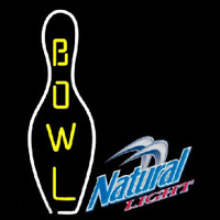 Natural Light Bowling Beer Sign Neontábla