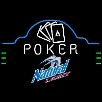 Natural Light Poker Ace Cards Beer Sign Neontábla
