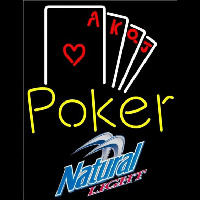 Natural Light Poker Ace Series Beer Sign Neontábla
