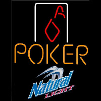 Natural Light Poker Squver Ace Beer Sign Neontábla