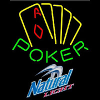 Natural Light Poker Yellow Beer Sign Neontábla