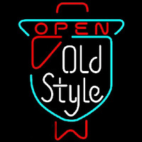 Old Style OPEN Beer Sign Neontábla