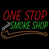 One Stop Smoke Shop Neontábla