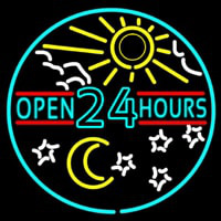 Open 24 Hours Neontábla
