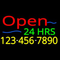 Open 24 Hrs Neontábla