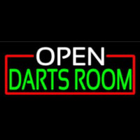 Open Darts Room With Red Border Neontábla