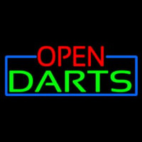 Open Darts With Blue Border Neontábla