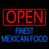 Open Finest Me ican Food Neontábla