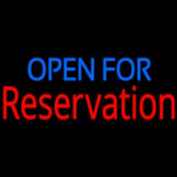 Open For Reservation Neontábla