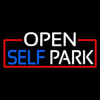 Open Self Park With Red Border Neontábla