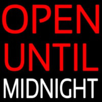 Open Until Midnight Neontábla