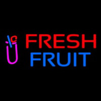 Oval Fresh Fruit Smoothies Neontábla