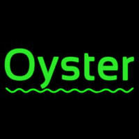 Oysters Green Line Neontábla