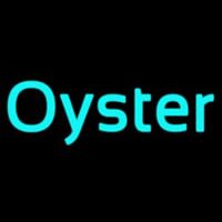 Oysters Turquoise Neontábla