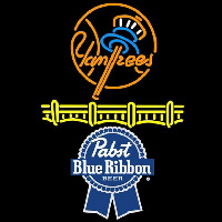 Pabst Blue Ribbon New York Yankees Beer Sign Neontábla
