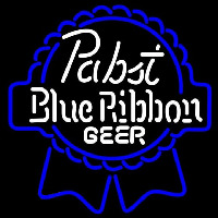 Pabst Blue White Ribbon Beer Sign Neontábla